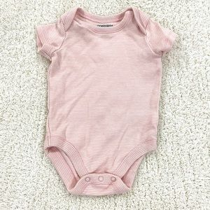 Gymboree pink and white striped onesie